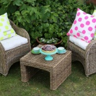 Stunning French La Cerise sur le Gateau cushions and outdoor furniture