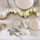 Classic white and silver table setting!