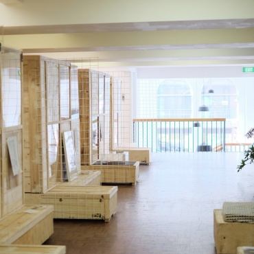 Level one: coworking offices for daily and longer term hire, exhibitions