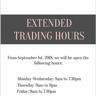Extended Trading Hours have started
