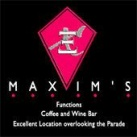 Maxims Coffee & Wine Bar Logo