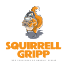 Squirrell Gripp Design Logo